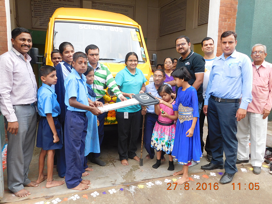 CybageAsha donated School bus to differently abled students