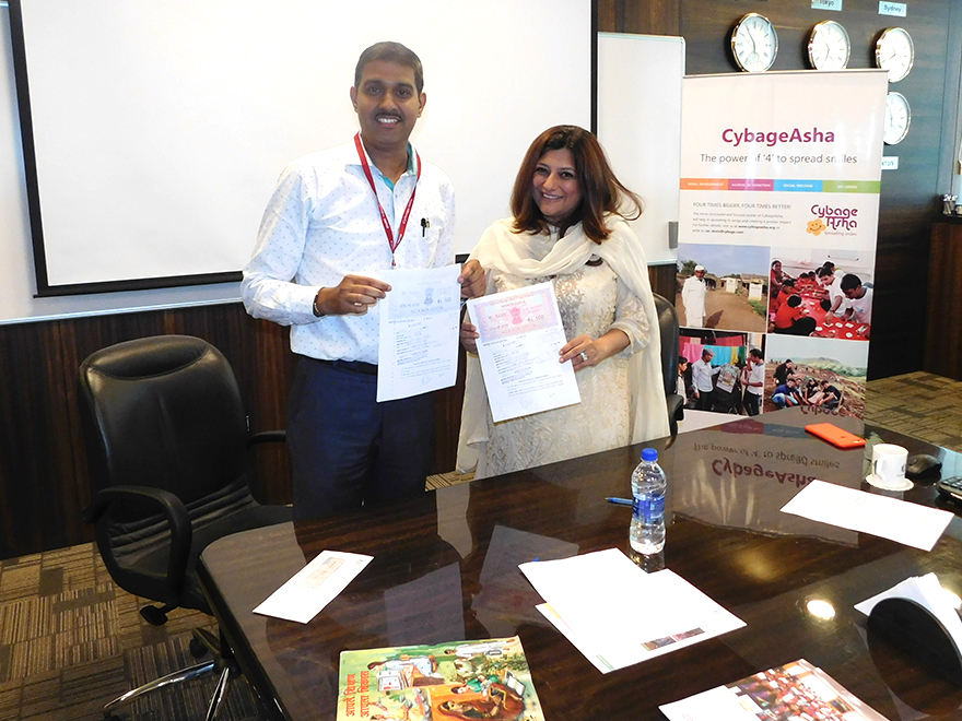 CybageAsha signs MoU with Sarvangin Vikas Sanstha