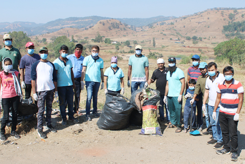 CybageAsha- Cleanliness Drive at Moroshi Pune